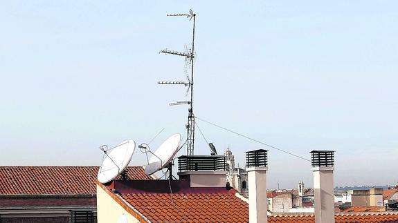 antena en tejado