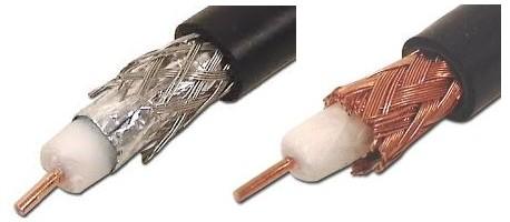 coaxial aluminio y cobre