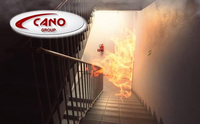Incendio en escalera