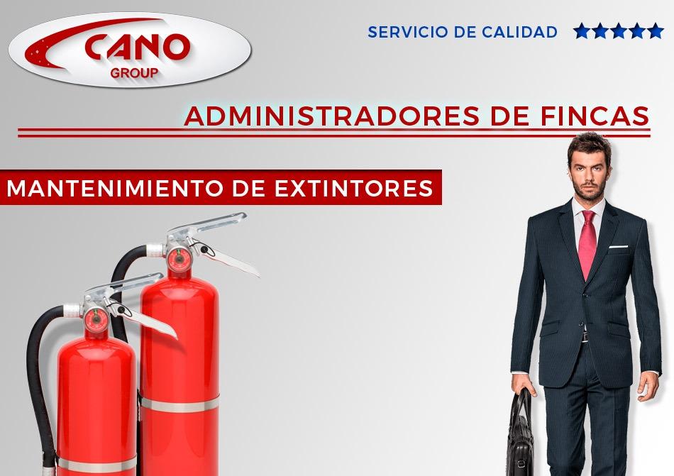 Contratos de mantenimiento de extintores para Administradores de Fincas